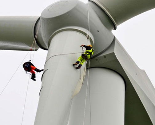 industrial lift for windmill workers